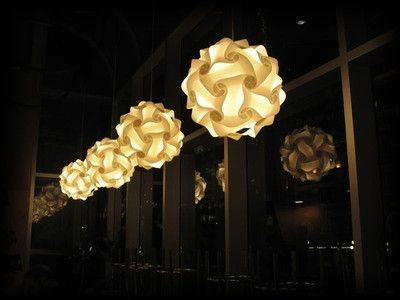 What is a Puzzle Light? - Puzzle Lights - Colorful Hanging Light Fixtures & Lamp Shades with L.E.D. Color-Changing Bulbs