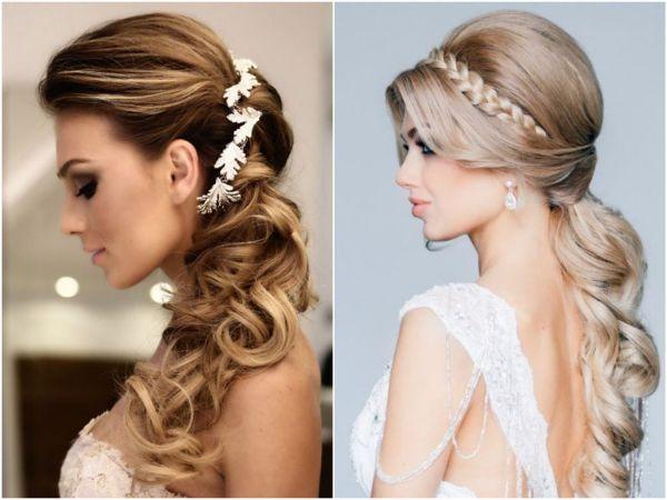 Penteado de noiva cabelo comprido longo meio preso | Bride hairstyle long hair blogdamariafernanda.com