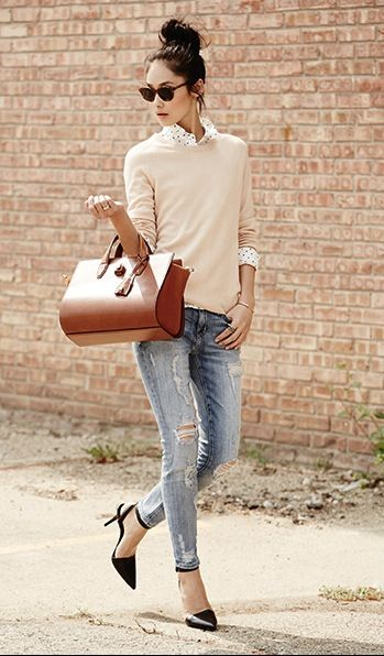 Distressed jean style
