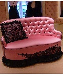Chantal Thomass pink loveseat - so boudoir fabulous!