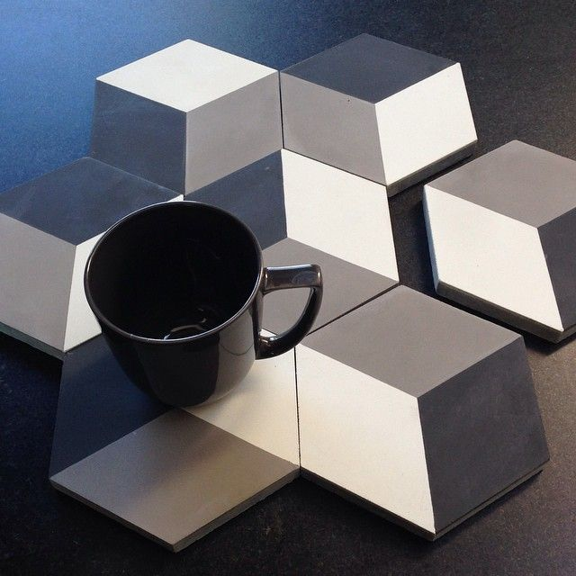 "We love our new 6"" cement hex's. Sweet and very petite !"