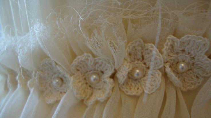 Bespoke wedding dress: close up detail