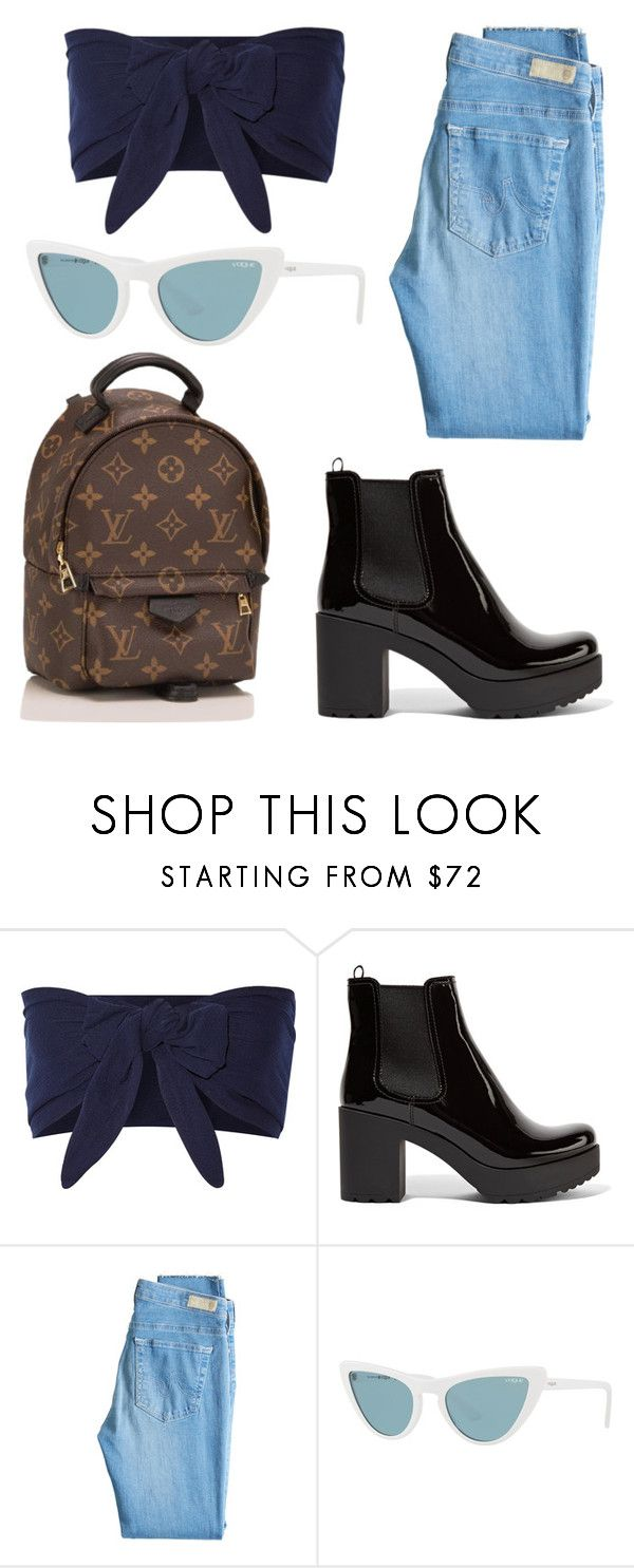 """""""Untitled #147"""" by zineb-chibane on Polyvore featuring Solid & Striped, Prada, AG Adriano Goldschmied, Vogue and Louis Vuitton"""