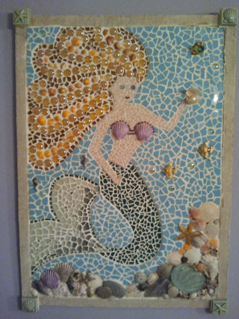 92 Best Mermaid Mosaics Images On Pinterest