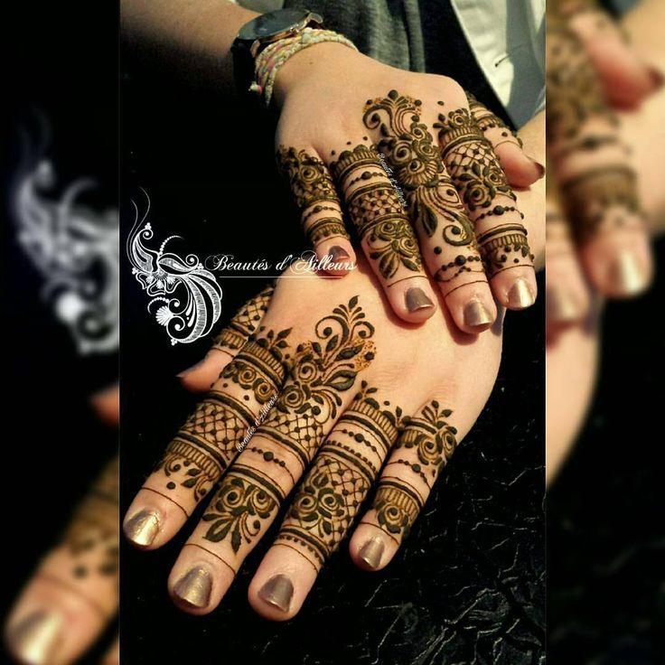"465 Likes, 2 Comments - Henna Iisha (@sheffield_hennaartist) on Instagram: ""Wow @beautes_dailleurs_henne - Finger's details #henna #7ena #design #tattoo #henné #mehndi…"""