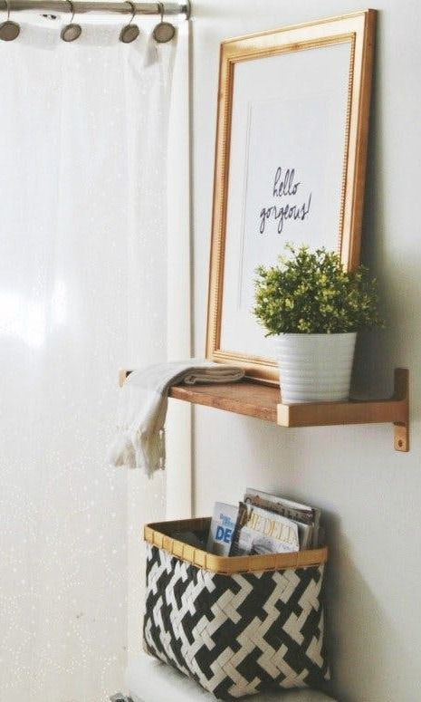 8 Ideas for What to Do With That Weird Space Above Your Toilet | Apartment Therapy