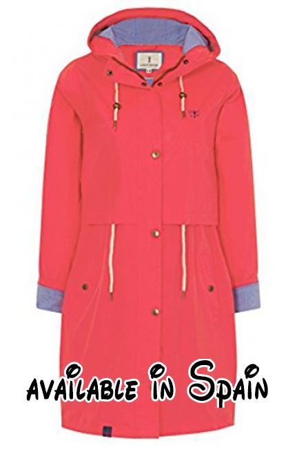 B06XGK17LM : LightHouse - Abrigo impermeable - para mujer rojo Amapola 40.