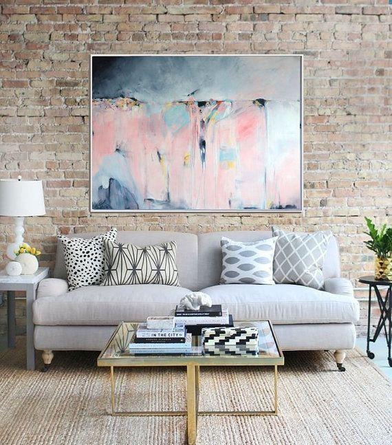 Abstracte kunst afdrukken van grote abstracte Giclee Print
