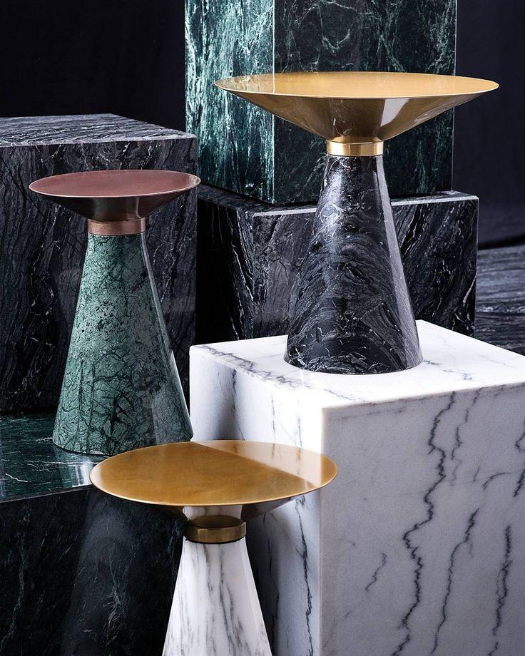 Great Nuevo Living | Bold Materials Create Monumental Impacts. Iris Side Table.  #interiordesign #