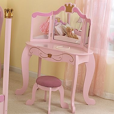 Kidkraft Princess Kids Vanity With Stool Jcpenney 150 00