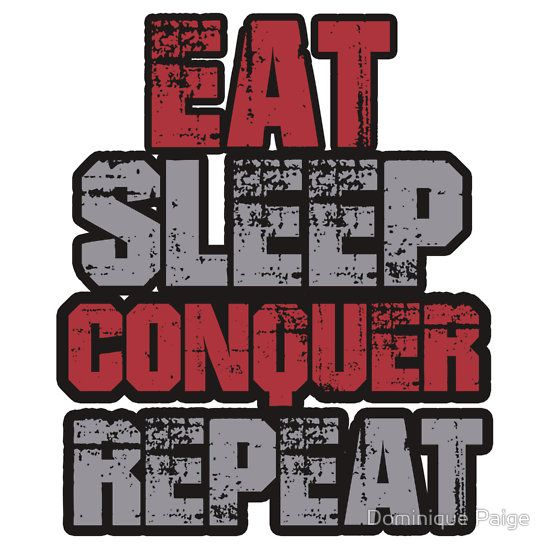 WWE Brock Lesnar EAT SLEEP CONQUER REPEAT