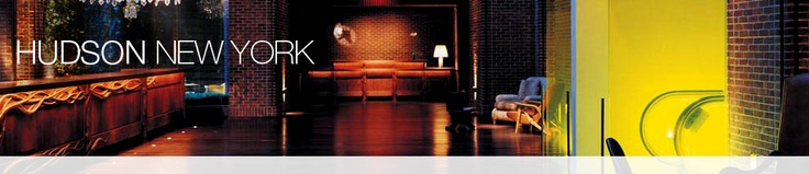 One of the most stylish, trendy and sexy hotels in NYC!  The Hudson Bar is the place to be any night of the week for pre game, after dinner drinks, a night of adventure or just for casual conversation!