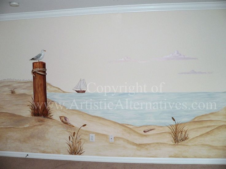 9 best rv mural images on pinterest motorhome camper for Beach mural painting
