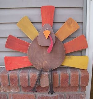 Turkey - Wood Craft Thanksgiving