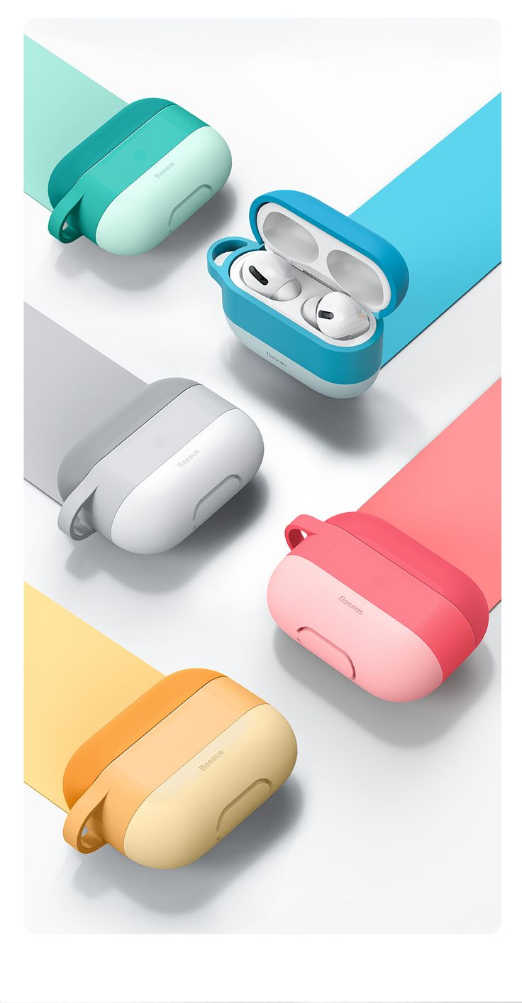 Baseus colorful case for airpods pro case with hook tws