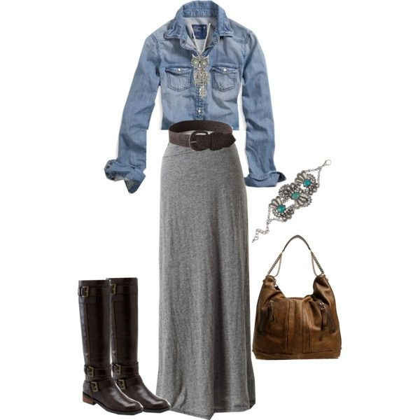 maxi skirt fashion- nice way to bring back a maxi while its still so cold in spring