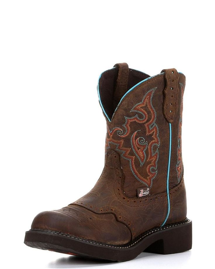 Justin | Women's Barnwood Brown Cowhide - L9607 | Country Outfitter
