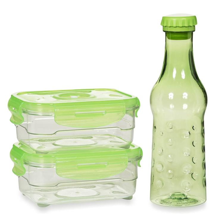 Microban by Neoflam by Neoflam Set Lunch Box: 1 bottiglia, 2 contenitori, 1 borsa termica