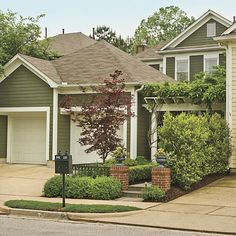 green exterior paint schemes | Proposal for a new paint color scheme to  bring the house to life | house decoration and remodel | Pinterest | Green,  ...