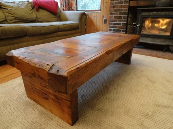 Old Growth Coffee Table 4 Inch Thick Top 30 X 48 Decorating