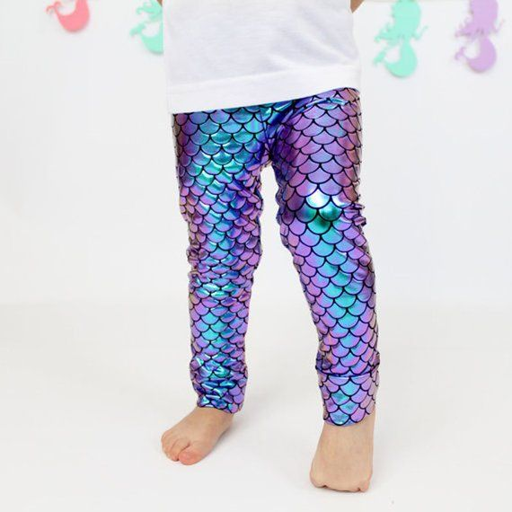 1b42ebbf6039c8 Mermaid leggings for girls/toddler - Birthday Party Outfit Gift Costume