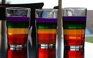 rainbow jello cups | st. patricks day holidays