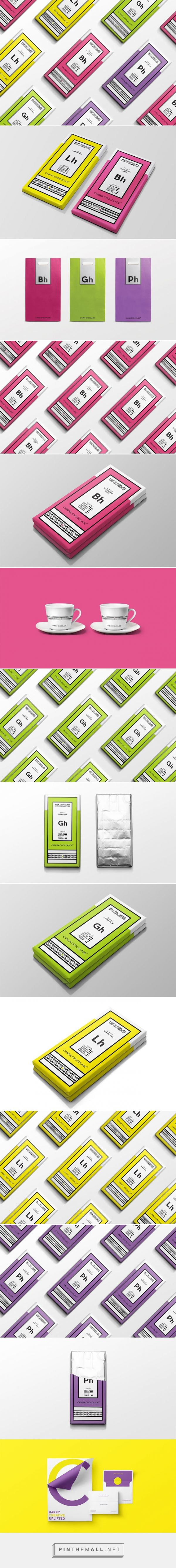 Canna Chocolade cannabis chocolate packaging concept designed by Corn Studio​ - http://www.packagingoftheworld.com/2015/10/canna-chocolade-concept.html