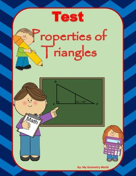 Students will test their knowledge over learned concepts of Properties of Triangles including classifying triangles, exterior angles of triangles, perpendicular bisectors of triangles, angle bisectors, medians, & altitudes of triangles.  This test will give students an idea of what concepts they have mastered and what areas they need additional help on to achieve mastery.