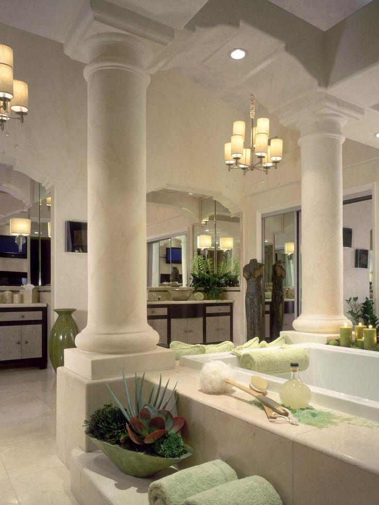 greek bathrooms | neoclassic master bathroom this luxurious neoclassic bathroom ...