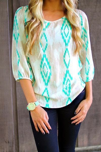 Casual Top With Stylish Jeans