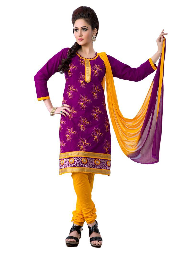 #Purple #Yellow #Dresmaterail #Casualwear #Officewear #Occasionalwear buy at salwarstudio.com