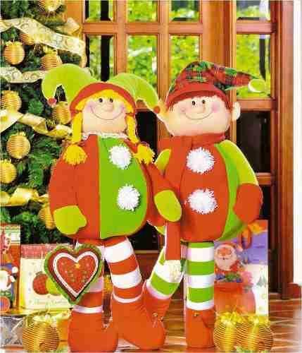 Patron Pareja Duendes navideños