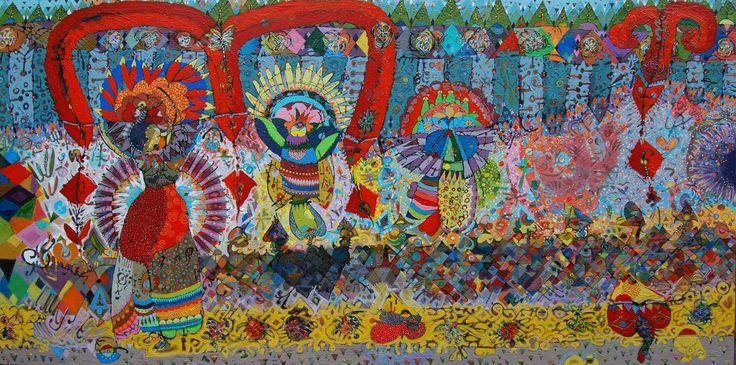 Hussein Salim 240x120cm Acrylic on canvas