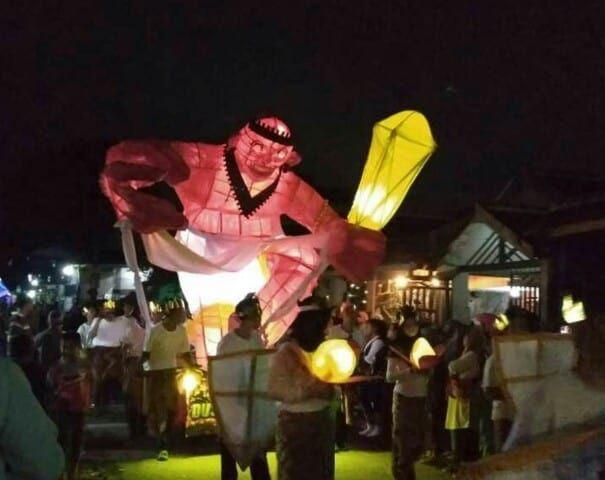 Gempuran Pawai Lampion di Jalan Tikus Singosari