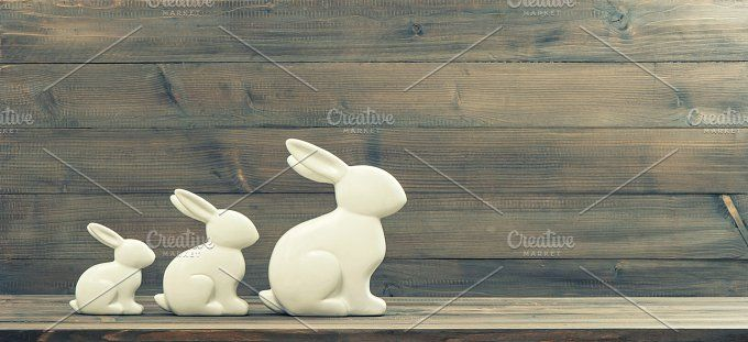 Easter bunnies by LiliGraphie on @creativemarket