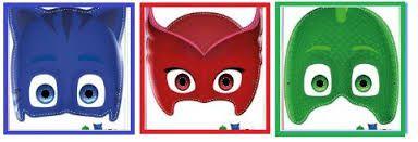 Resultado de imagen para mascara de los heroes en pijama para pintar