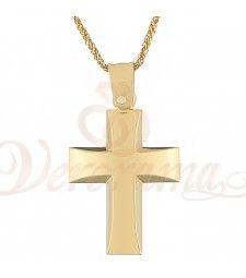 Σταυρός ανδρικός χρυσός Κ14 ST_109