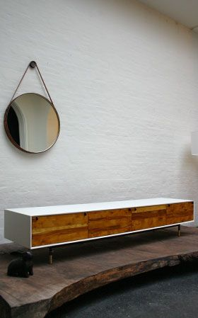 Tv console - low cabinet - wood