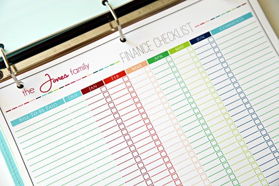I used her budget forms (from her Etsy shop) all of last year and loved them. Get free printables today! IHeart Organizing: Our Budget Binder