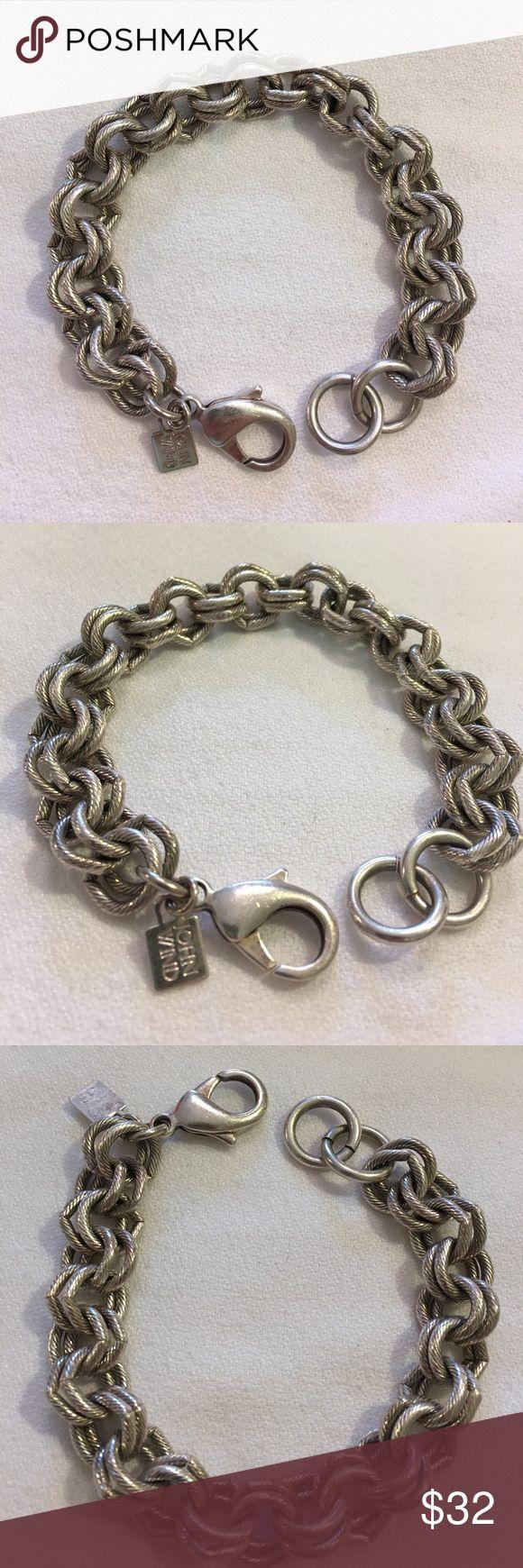 """John Wind Silvertone Charm/Sorority Bracelet 8.25"""" Worn about 10 times. No condition issues. Longest measurement is 8.25"""". John Wind Jewelry Bracelets"""