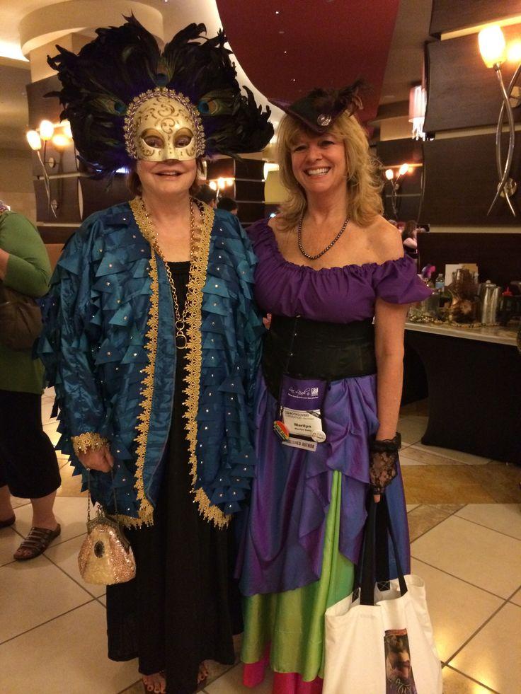 With Kathryn Falk - Lady of Barrow before Mardi Gras World
