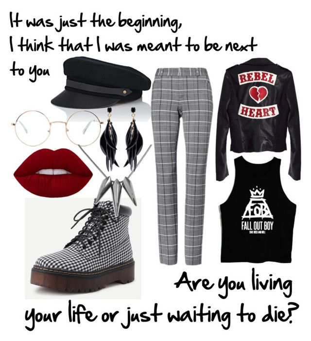 """Fall out boy outfit"" by drumeaclementina on Polyvore featuring Lola, Forever 21, Oscar de la Renta, fob and backtoearth"