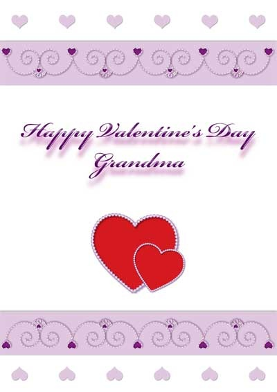 Free printable Valentine's day card for Grandma - my-free-printable-cards.com