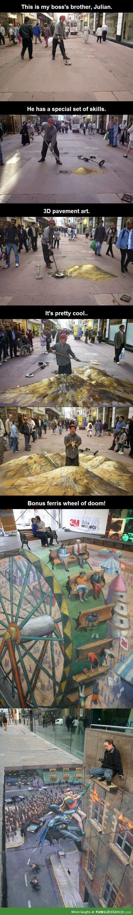 3D pavement art - FunSubstance.com.