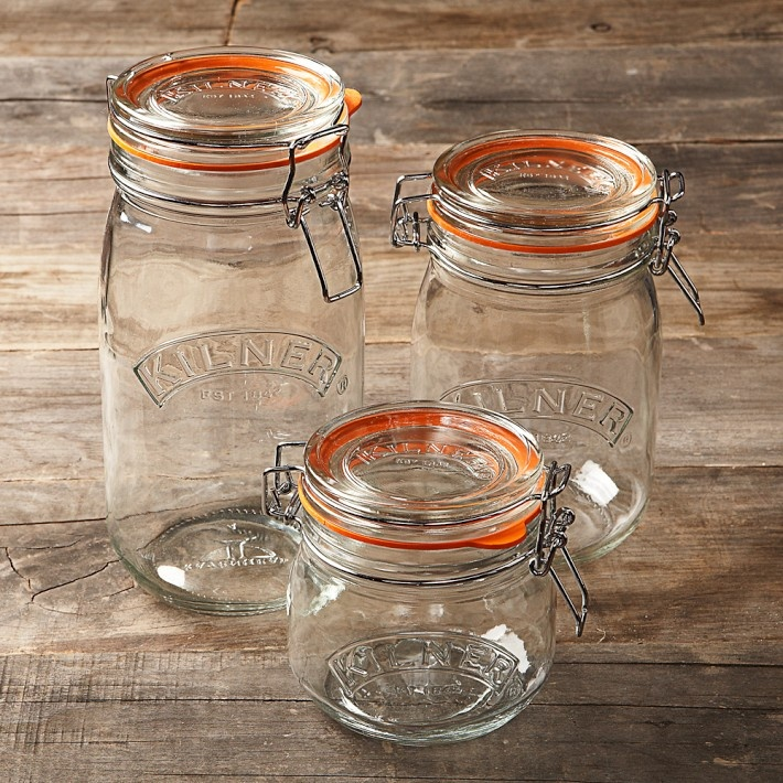 Kilner jars  Already got for baking, pasta and ceral  Next tea, sugar and biscuits