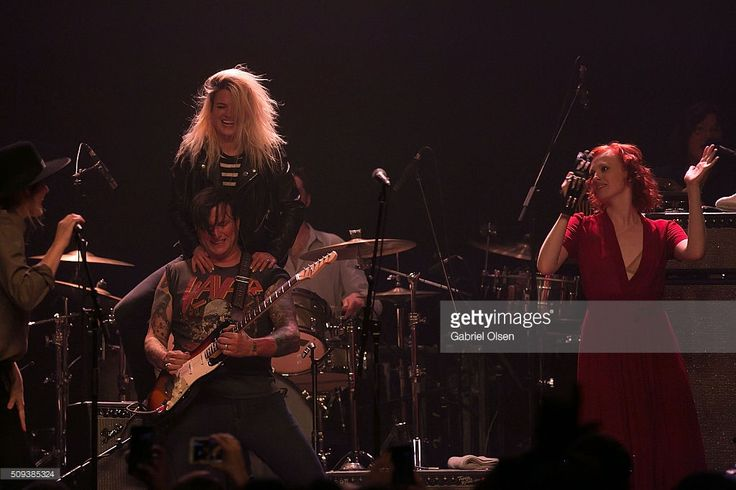 Butch Walker (C) and Alison Mosshart perform onstage at The Best Fest Presents Fleetwood Mac Fest at The Fonda Theatre on February 9, 2016 in Los Angeles, California.