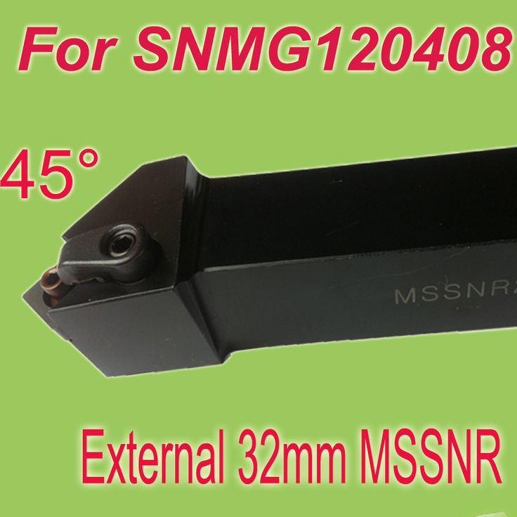 Free Shiping MSSNR 32*32*170 SHK 1-1/4'' 45 Degree  External  Metal Working Tool SNMG120408 Inserts Holder For CNC Lathe Machine