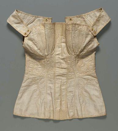 Corset, 1810-1840, MFA Accession Number 44.348