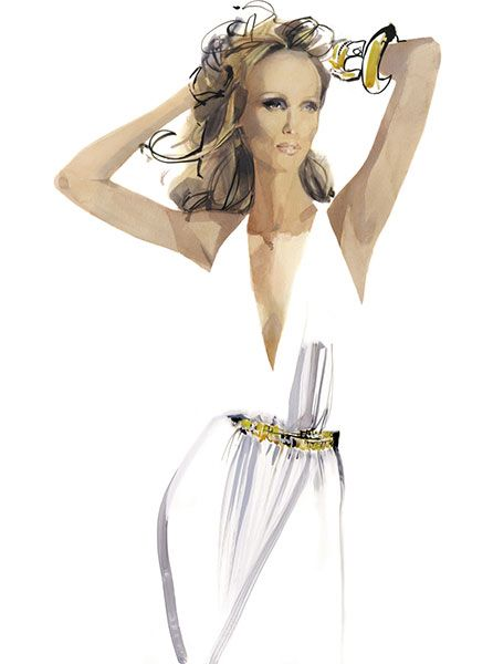 Iman, New York 2012, by David Downton