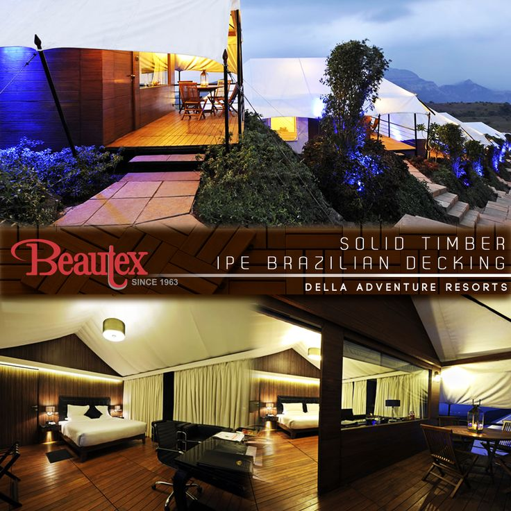 Throwback to the time 7 years ago when we enchanted the rooms at the Della Adventure Park Resort in Lonavala with our IPE Brazilian Solid Timber Decking. The IPE truly blends rustic and modern details of this perfectly designed Villa! Check our gallery for more: http://bit.ly/1Xbf3CQ ‪#‎BeautexAtWork‬ ‪#‎Lonavala‬ ‪#‎DellaAdventures‬ ‪#‎Della‬ ‪#‎Resorts‬ ‪#‎Decking‬ ‪#‎BeautexLuxuryConcepts‬ ‪#‎since1963‬ ‪#‎Modern‬ ‪#‎archdaily‬ ‪#‎archwonders‬ ‪#‎architecture‬ ‪#‎designer‬ ‪#‎Throwback‬